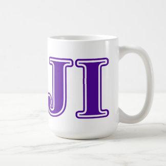 Phi Gamma Delta Purple Letters Coffee Mug