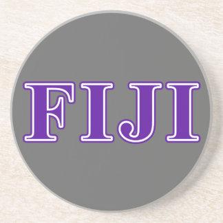 Phi Gamma Delta Purple Letters Drink Coaster