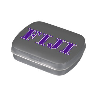 Phi Gamma Delta Purple Letters Jelly Belly Tin