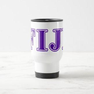 Phi Gamma Delta Purple Letters Travel Mug