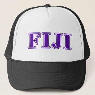Phi Gamma Delta Purple Letters Trucker Hat