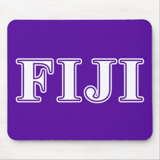 Phi Gamma Delta Whie and Purple Letters Mouse Pad