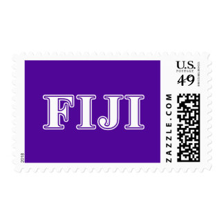 Phi Gamma Delta Whie and Purple Letters Postage