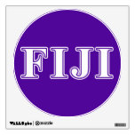 Phi Gamma Delta Whie and Purple Letters Wall Skin