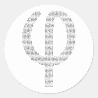 Phi (Golden Ratio) Classic Round Sticker