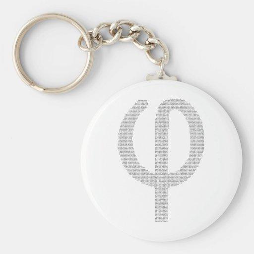 Phi (Golden Ratio) Keychain