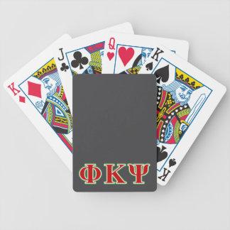 Phi Kappa letras rojas y verdes de la PSI Baraja Cartas De Poker