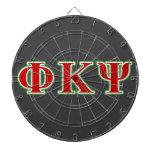 Phi Kappa letras rojas y verdes de la PSI Tablero Dardos