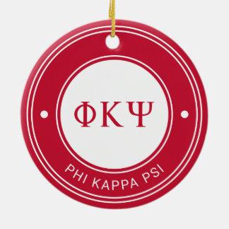 Phi Kappa Psi | Badge Ceramic Ornament