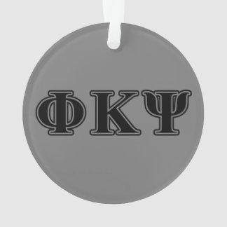 Phi Kappa Psi Black Letters