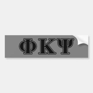 Phi Kappa Psi Black Letters Car Bumper Sticker