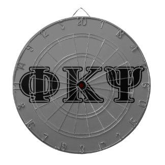 Phi Kappa Psi Black Letters Dart Boards