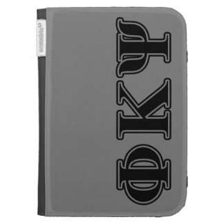 Phi Kappa Psi Black Letters Kindle 3 Covers