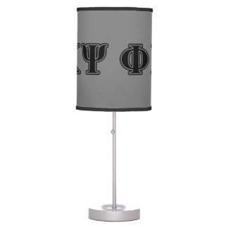 Phi Kappa Psi Black Letters Lamp