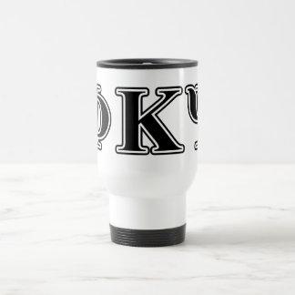 Phi Kappa Psi Black Letters 15 Oz Stainless Steel Travel Mug