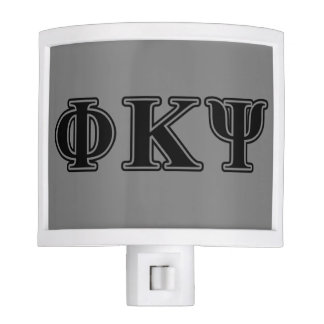 Phi Kappa Psi Black Letters Night Lights