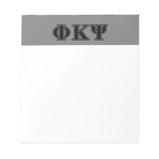 Phi Kappa Psi Black Letters Note Pads