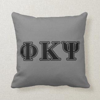 Phi Kappa Psi Black Letters Pillow