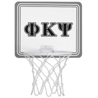 Phi Kappa Psi Black Letters Mini Basketball Backboard