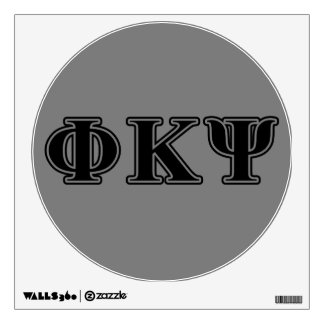 Phi Kappa Psi Black Letters Room Stickers