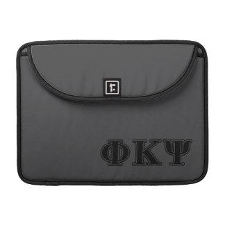 Phi Kappa Psi Black Letters Sleeve For MacBooks