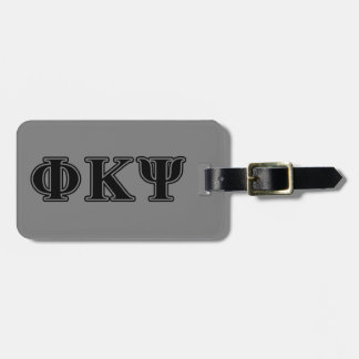Phi Kappa Psi Black Letters Tags For Bags