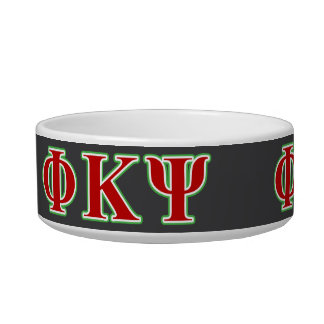 Phi Kappa Psi Red and Green Letters Bowl