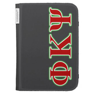 Phi Kappa Psi Red and Green Letters Cases For Kindle