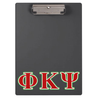 Phi Kappa Psi Red and Green Letters Clipboard