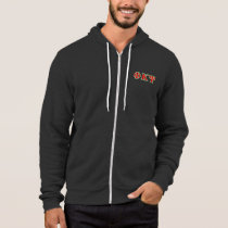 Phi Kappa Psi Red and Green Letters Hoodie
