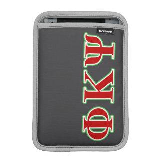 Phi Kappa Psi Red and Green Letters iPad Mini Sleeve