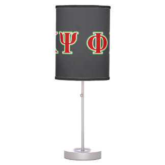 Phi Kappa Psi Red and Green Letters Lamps
