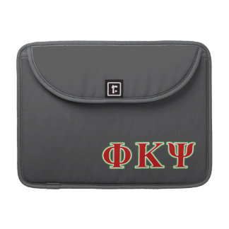 Phi Kappa Psi Red and Green Letters MacBook Pro Sleeve