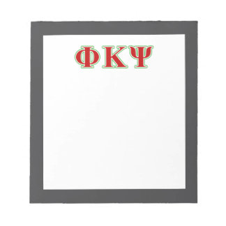Phi Kappa Psi Red and Green Letters Memo Note Pad