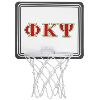 Phi Kappa Psi Red and Green Letters Mini Basketball Backboard