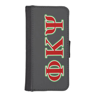 Phi Kappa Psi Red and Green Letters iPhone 5 Wallets