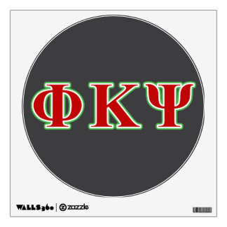 Phi Kappa Psi Red and Green Letters Room Decals