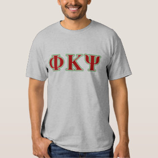Phi Kappa Psi Red and Green Letters Shirt