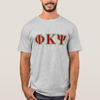 Phi Kappa Psi Red and Green Letters T-Shirt