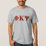 Phi Kappa Psi Red and Green Letters Tees