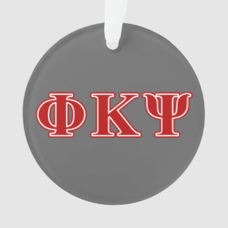 Phi Kappa Psi Red Letters