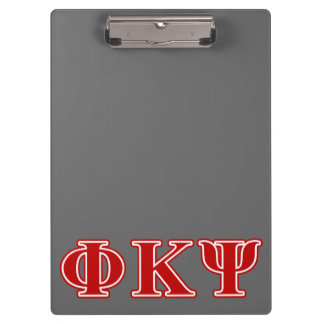 Phi Kappa Psi Red Letters Clipboard
