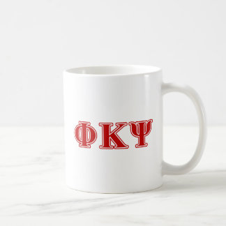 Phi Kappa Psi Red Letters Coffee Mug