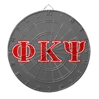 Phi Kappa Psi Red Letters Dartboard With Darts