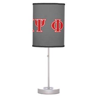 Phi Kappa Psi Red Letters Desk Lamp