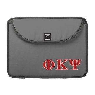 Phi Kappa Psi Red Letters MacBook Pro Sleeves