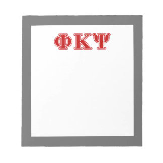 Phi Kappa Psi Red Letters Memo Notepad