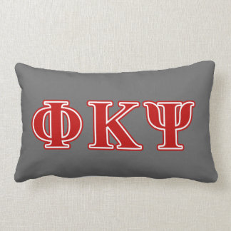 Phi Kappa Psi Red Letters Pillow