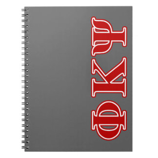 Phi Kappa Psi Red Letters Spiral Note Books