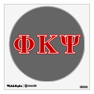 Phi Kappa Psi Red Letters Wall Skins